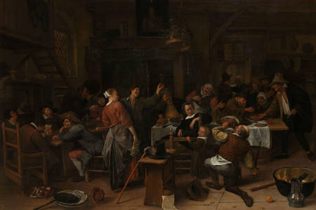 "Jan Steen: ""Dia do príncipe"""