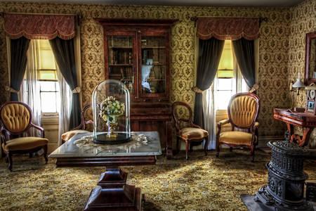 Viktoriánus stílusú belső terekben