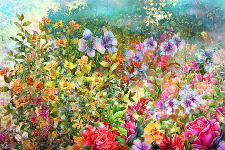 Акварельні весняні квіти
