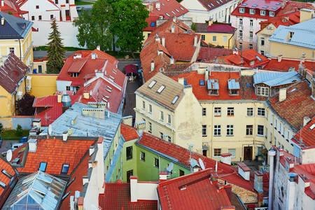 Střechy ve starém městě Vilniusu