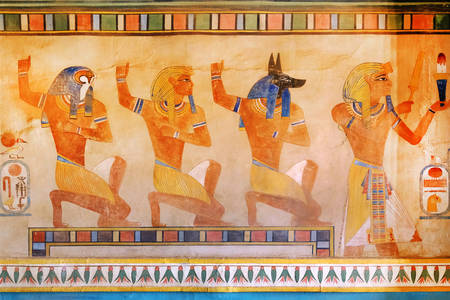 Egyptian gods and pharaohs