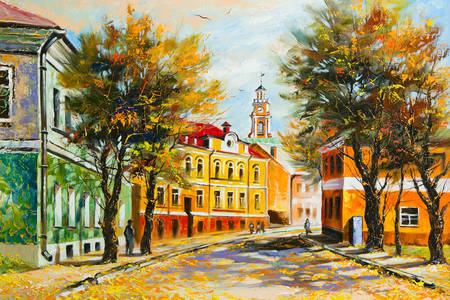 Ancient Vitebsk in autumn