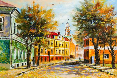 Starożytny Witebsk jesienią