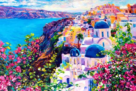 Santorini Insel