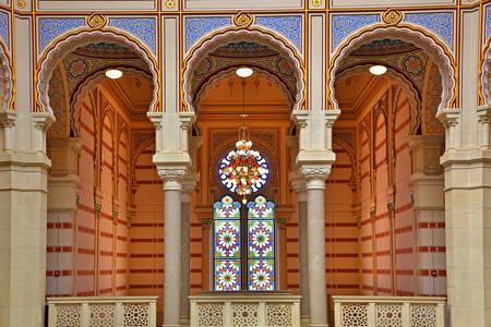 Innenraum der National- und Universitätsbibliothek von Bosnien und Herzegowina