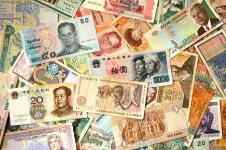 Asian and African banknotes