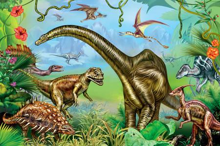 Praveké dinosaury v džungli