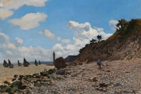 """Claude Monet: """"The Beach at Honfleur"""""""