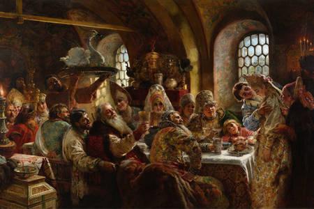"""Konstantin Makovsky: """"Sărbătoarea nunții boierilor"""""""