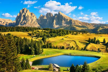 Seiser Alm Dolomite Plateau