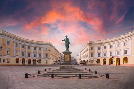 Monument voor hertog de Richelieu in Odessa