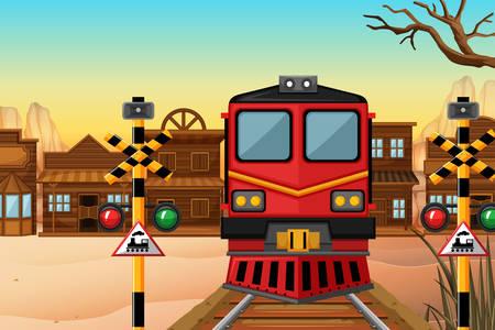 Şehirde tren