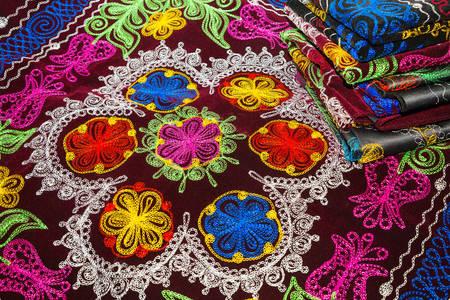 Uzbek ornament on fabric