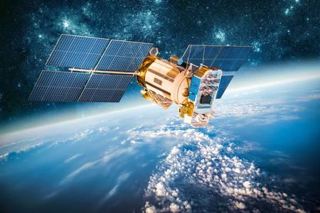 Satelliet in een baan om de aarde