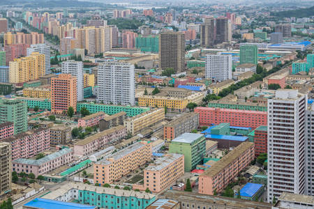 Pyongyang city architecture