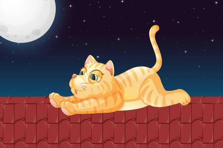 Γάτα στη στέγη