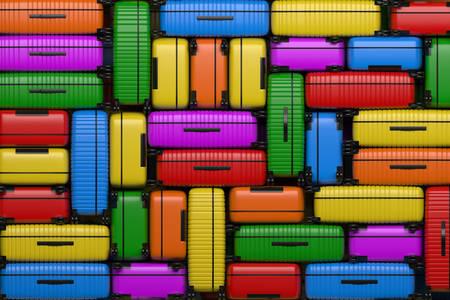 Veelkleurige reiskoffers