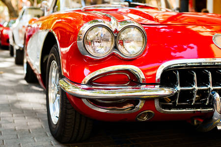 Rotes Oldtimer