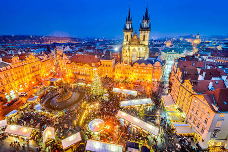 Kerst op het plein