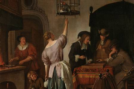"Jan Steen: ""De papegaaiekooi"""