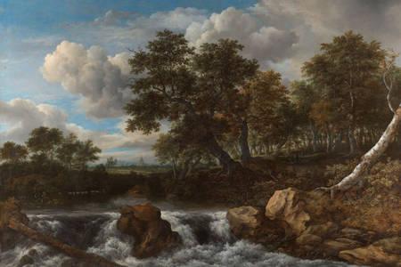 """Jacob van Ruisdael: """"Krajobraz z wodospadem"""""""