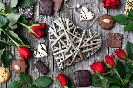 Fondo festivo de San Valentín