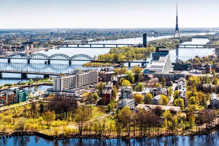 Riga city panorama