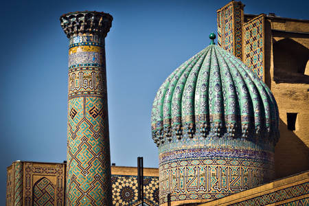 Fragment of the mosque on the Registan square