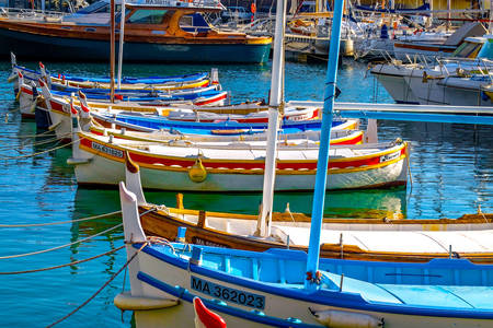Colorful boats in the harbor