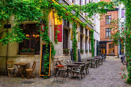 Stará ulice v Antverpách