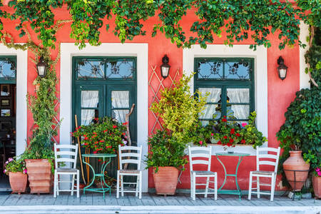 Street cafes in Greece