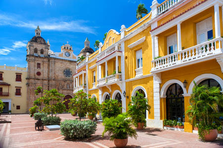Square in Cartagena de Indias