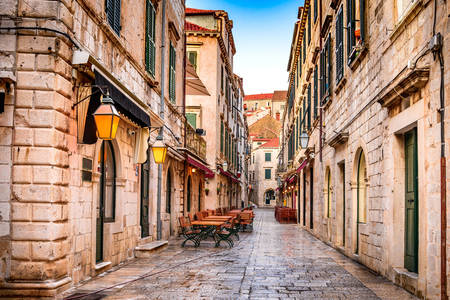 Old streets of Dubrovnik