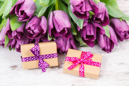 Tulips and gifts