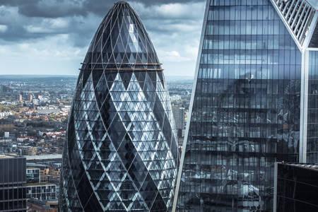 London office buildings view