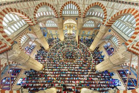 Interiér mešity Selimiye