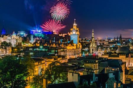 Fireworks in Edinburgh