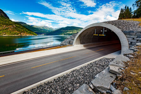 Car tunnel in Norway