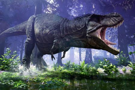 Ferocious tyrannosaurus
