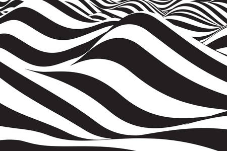 3D abstraction: black and white mountains
