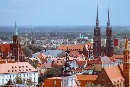 Roofs of Wroclaw