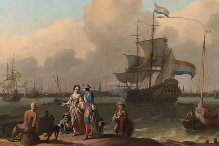 "Ludolf Bakhuysen: ""The Y at Amsterdam, with the Frigate 'De Ploeg'"""