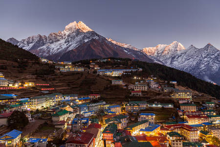 Mountain village Namche Bazar