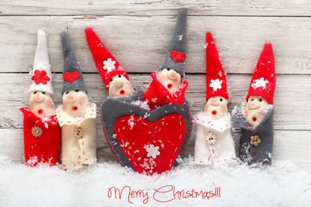 Коледни играчки елфи