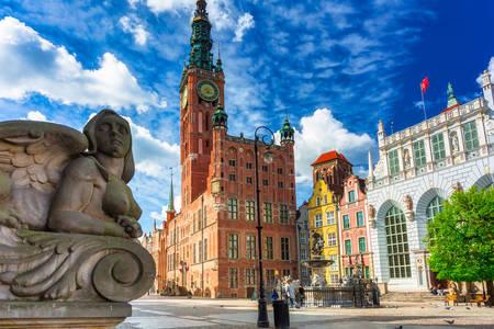 Krásná architektura v Gdaňsku