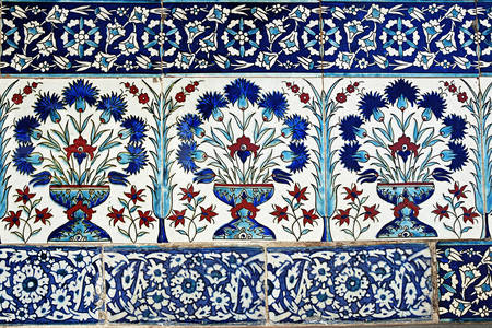 Original tiles in Topkapi Palace