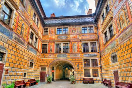 El patio del castillo de Cesky Krumlov