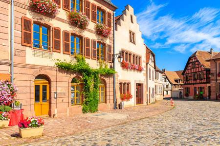 Belles façades de maisons à Bergem