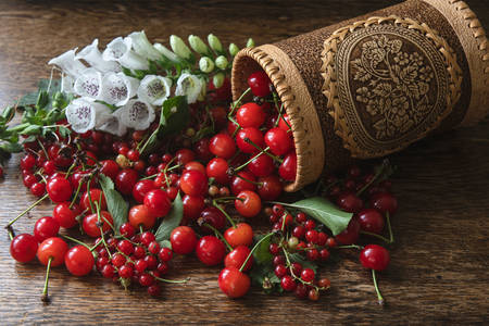Ripe berries on the table