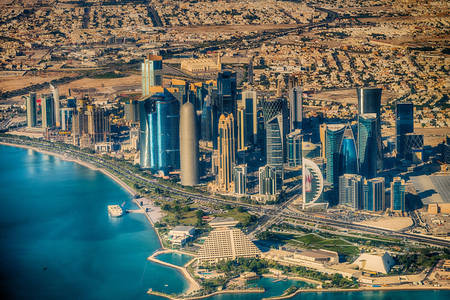 Изглед към град Доха